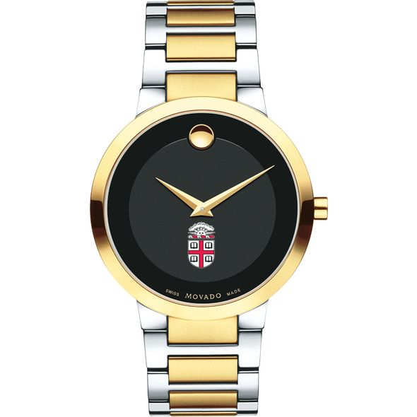 Brown University Men's Movado Two-Tone Modern Classic Museum with Bracelet - Image 2