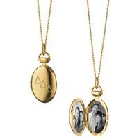 Delta Delta Delta Monica Rich Kosann Petite Locket in Gold