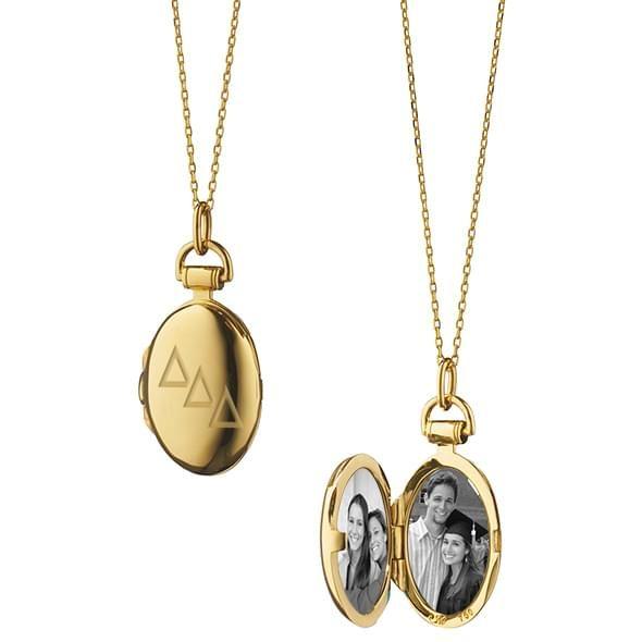 Delta Delta Delta Monica Rich Kosann Petite Locket in Gold