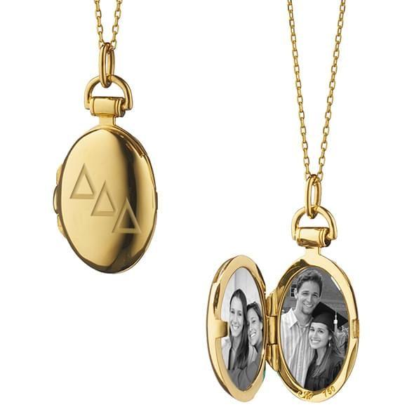 Delta Delta Delta Monica Rich Kosann Petite Locket in Gold - Image 2