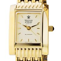 William & Mary Women's Gold Quad Watch with Bracelet