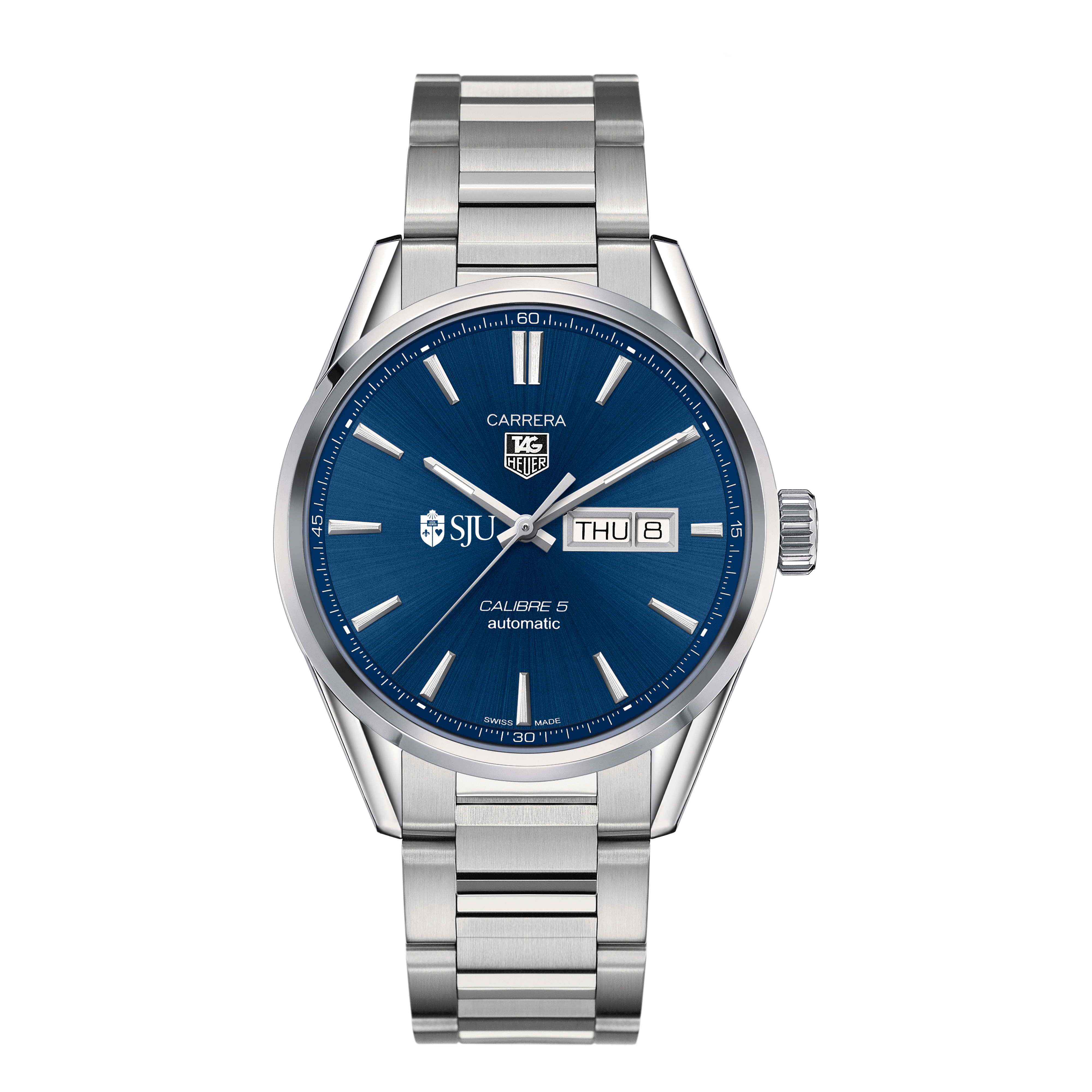 St. John's University Men's TAG Heuer Carrera with Day-Date - Image 2
