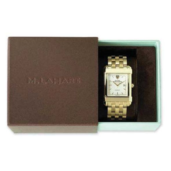 Syracuse University Women's Gold Quad with Leather Strap - Image 4