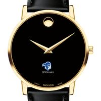 Seton Hall Men's Movado Gold Museum Classic Leather