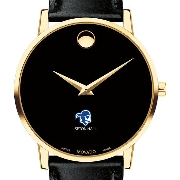 Seton Hall Men's Movado Gold Museum Classic Leather - Image 1