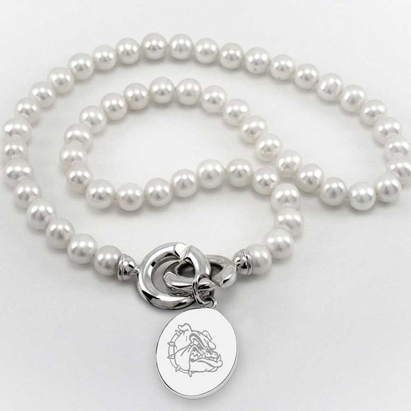 Gonzaga Pearl Necklace with Sterling Silver Charm