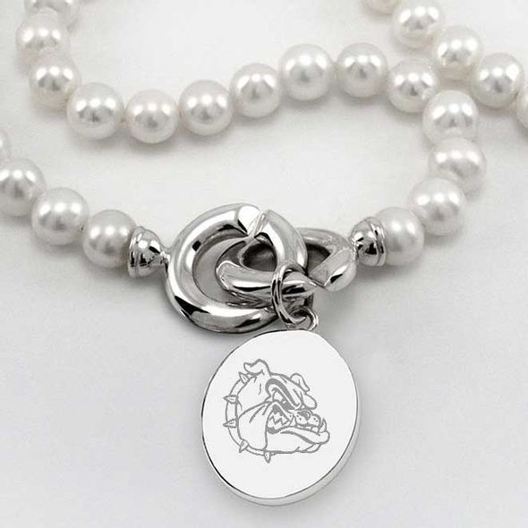 Gonzaga Pearl Necklace with Sterling Silver Charm - Image 2