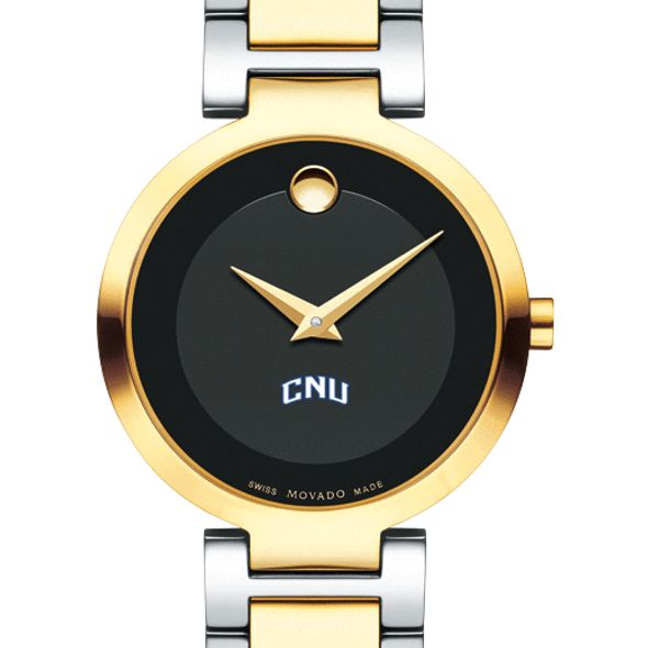 Christopher Newport University Women's Movado Two-Tone Modern Classic Museum with Bracelet