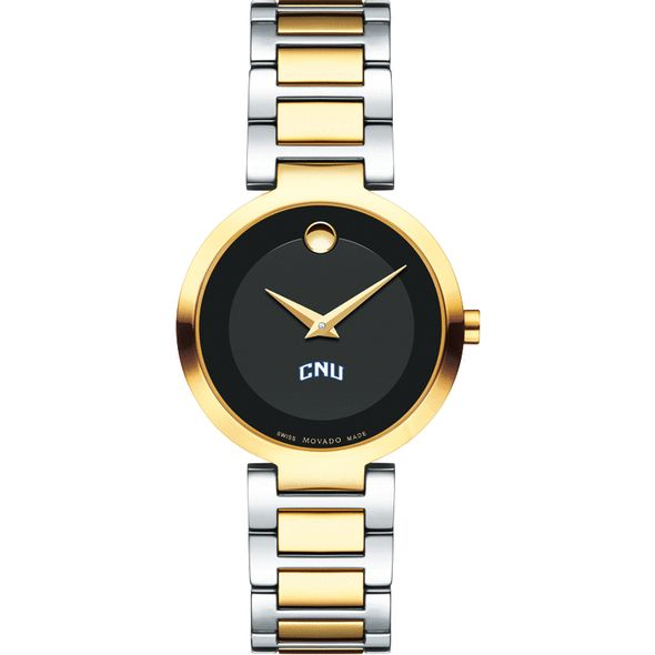 Christopher Newport University Women's Movado Two-Tone Modern Classic Museum with Bracelet - Image 2