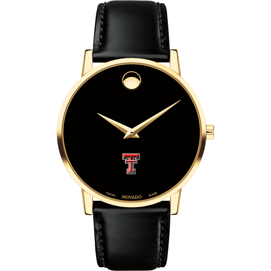 Texas Tech Men's Movado Gold Museum Classic Leather - Image 2