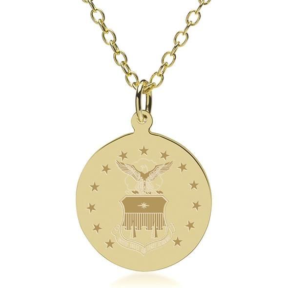 USAFA 14K Gold Pendant & Chain - Image 2
