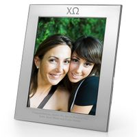 Chi Omega Polished Pewter 8x10 Picture Frame
