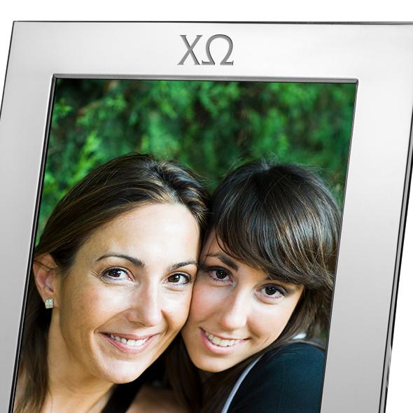 Chi Omega Polished Pewter 8x10 Picture Frame - Image 2