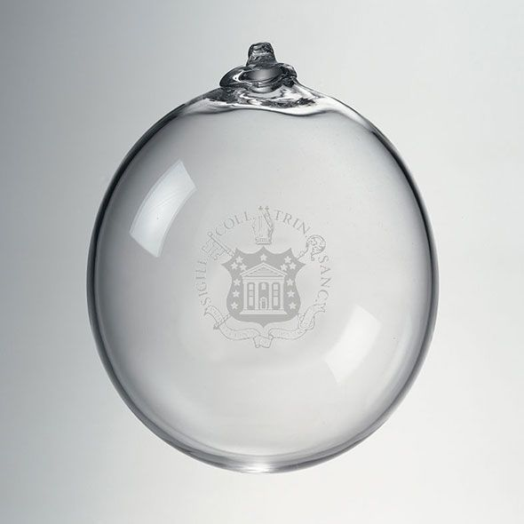 Trinity College Glass Ornament by Simon Pearce