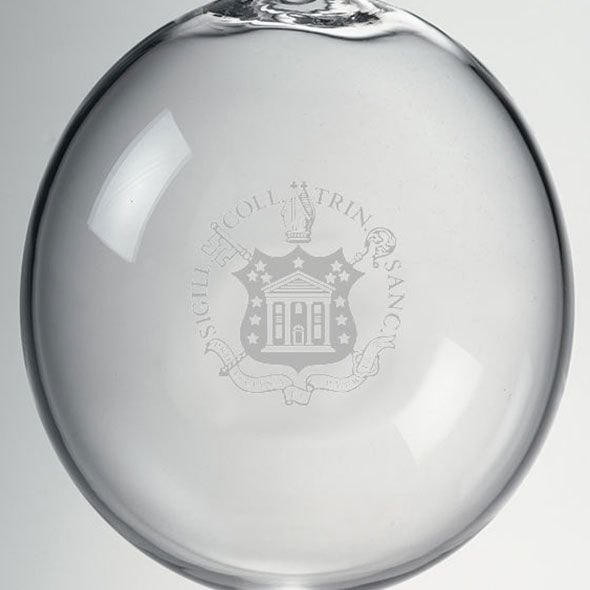 Trinity College Glass Ornament by Simon Pearce - Image 2