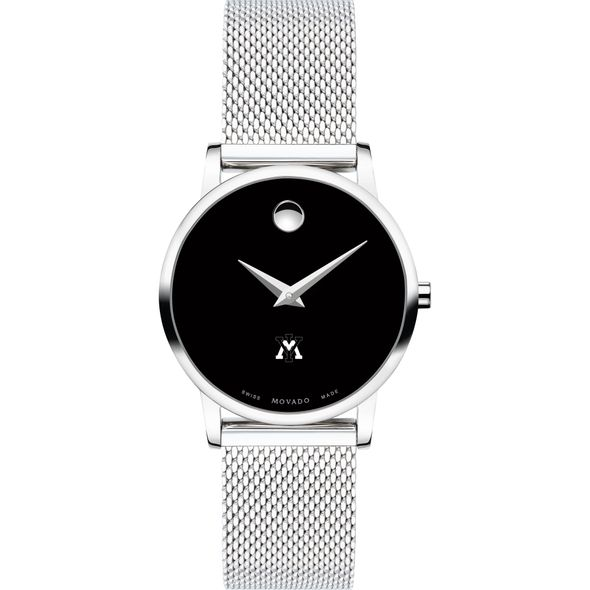 Virginia Military Institute Women's Movado Museum with Mesh Bracelet - Image 2