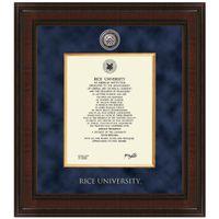 Rice Diploma Frame - Excelsior