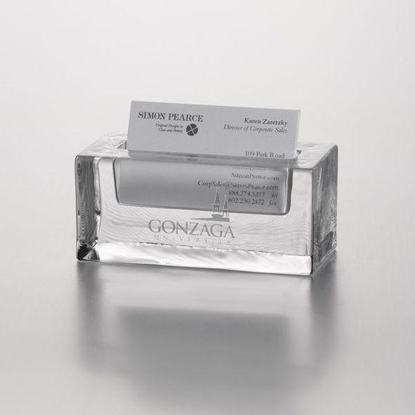 Gonzaga Glass Business Cardholder by Simon Pearce