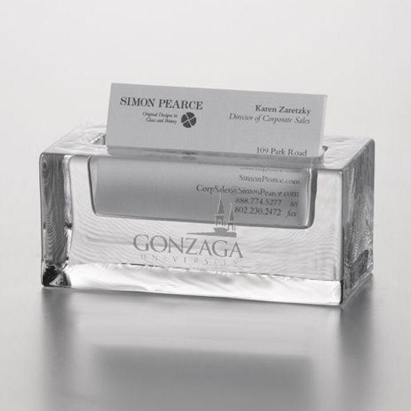 Gonzaga Glass Business Cardholder by Simon Pearce - Image 2