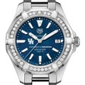 Houston Women's TAG Heuer 35mm Steel Aquaracer with Blue Dial - Image 1