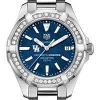 Houston Women's TAG Heuer 35mm Steel Aquaracer with Blue Dial