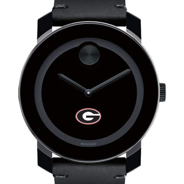 University of Georgia Men's Movado BOLD with Leather Strap - Image 1