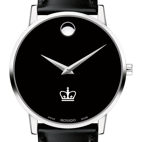 Columbia University Men's Movado Museum with Leather Strap