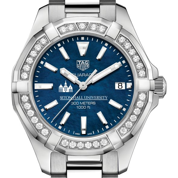 Seton Hall Women's TAG Heuer 35mm Steel Aquaracer with Blue Dial