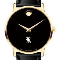 Rice University Men's Movado Gold Museum Classic Leather
