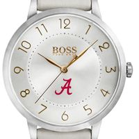 University of Alabama Women's BOSS White Leather from M.LaHart