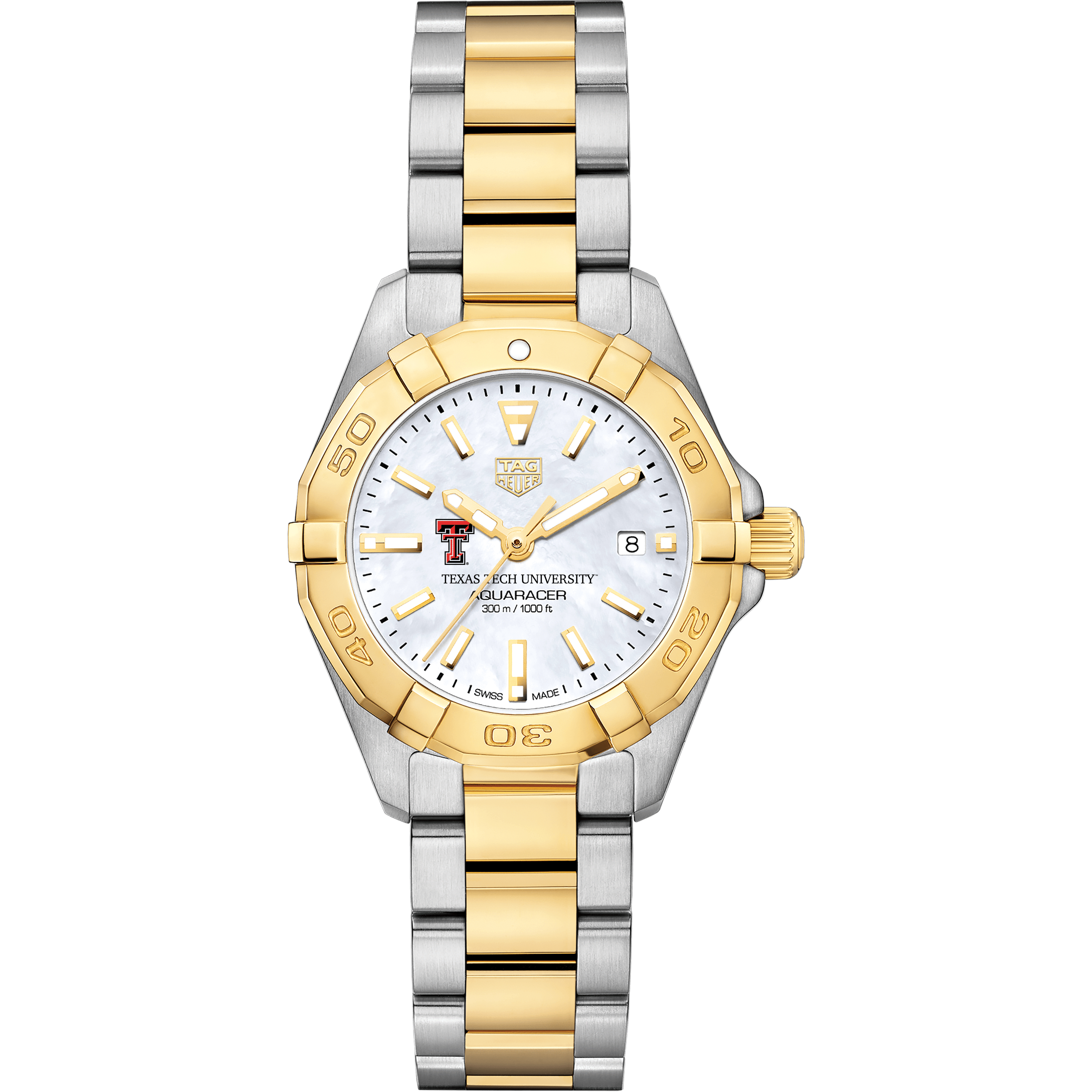 Texas Tech TAG Heuer Two-Tone Aquaracer for Women - Image 2