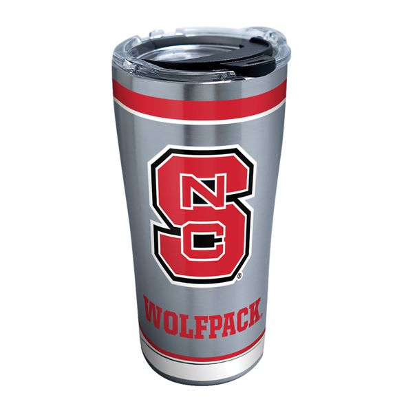 NC State 20 oz. Stainless Steel Tervis Tumblers with Hammer Lids - Set of 2