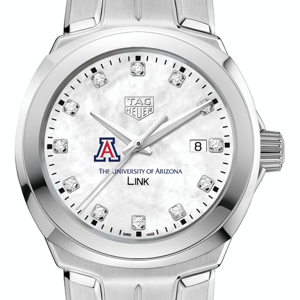 University of Arizona TAG Heuer Diamond Dial LINK for Women - Image 1