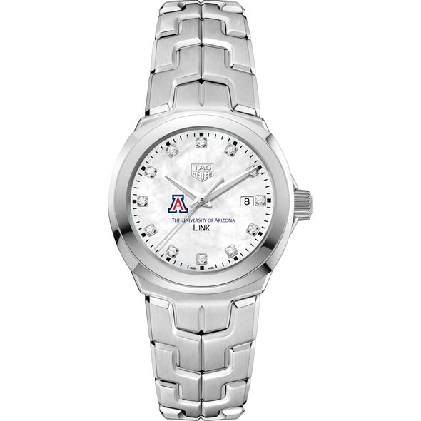 University of Arizona TAG Heuer Diamond Dial LINK for Women - Image 2