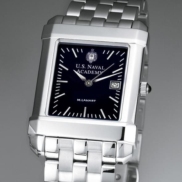 USNA Men's Black Quad Watch with Bracelet