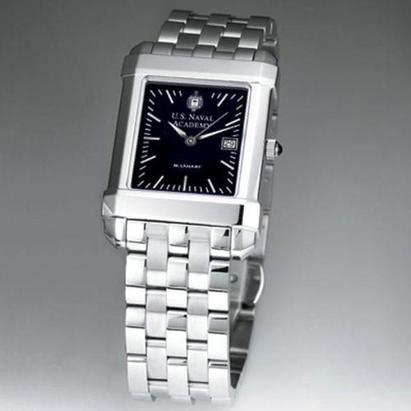 USNA Men's Black Quad Watch with Bracelet - Image 2