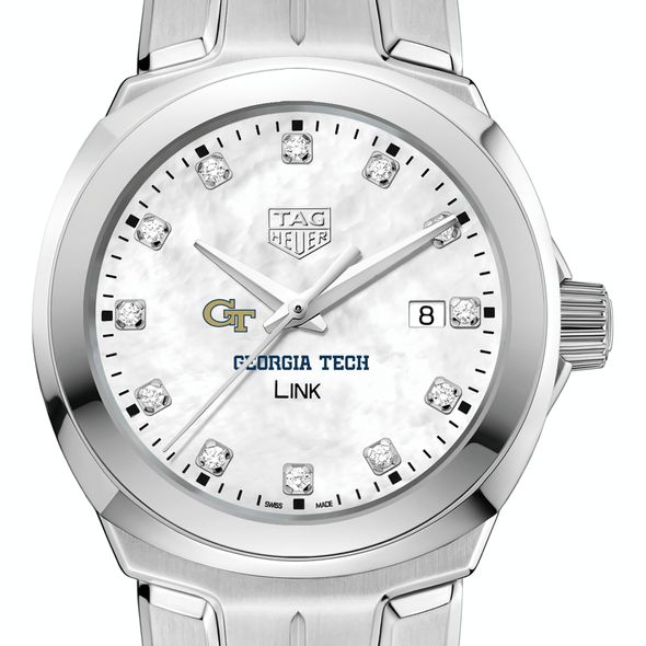 Georgia Tech TAG Heuer Diamond Dial LINK for Women