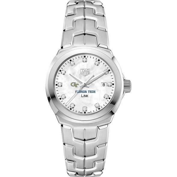 Georgia Tech TAG Heuer Diamond Dial LINK for Women - Image 2