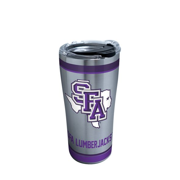 SFASU 20 oz. Stainless Steel Tervis Tumblers with Hammer Lids - Set of 2