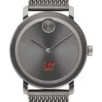 Central Michigan University Men's Movado BOLD Gunmetal Grey with Mesh Bracelet