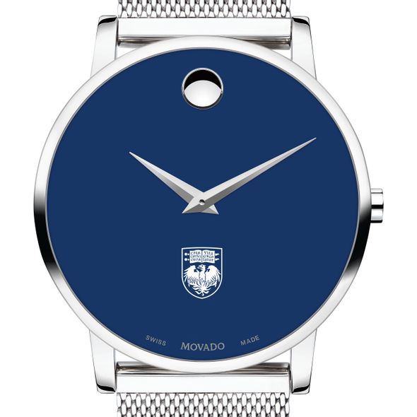 University of Chicago Men's Movado Museum with Blue Dial & Mesh Bracelet