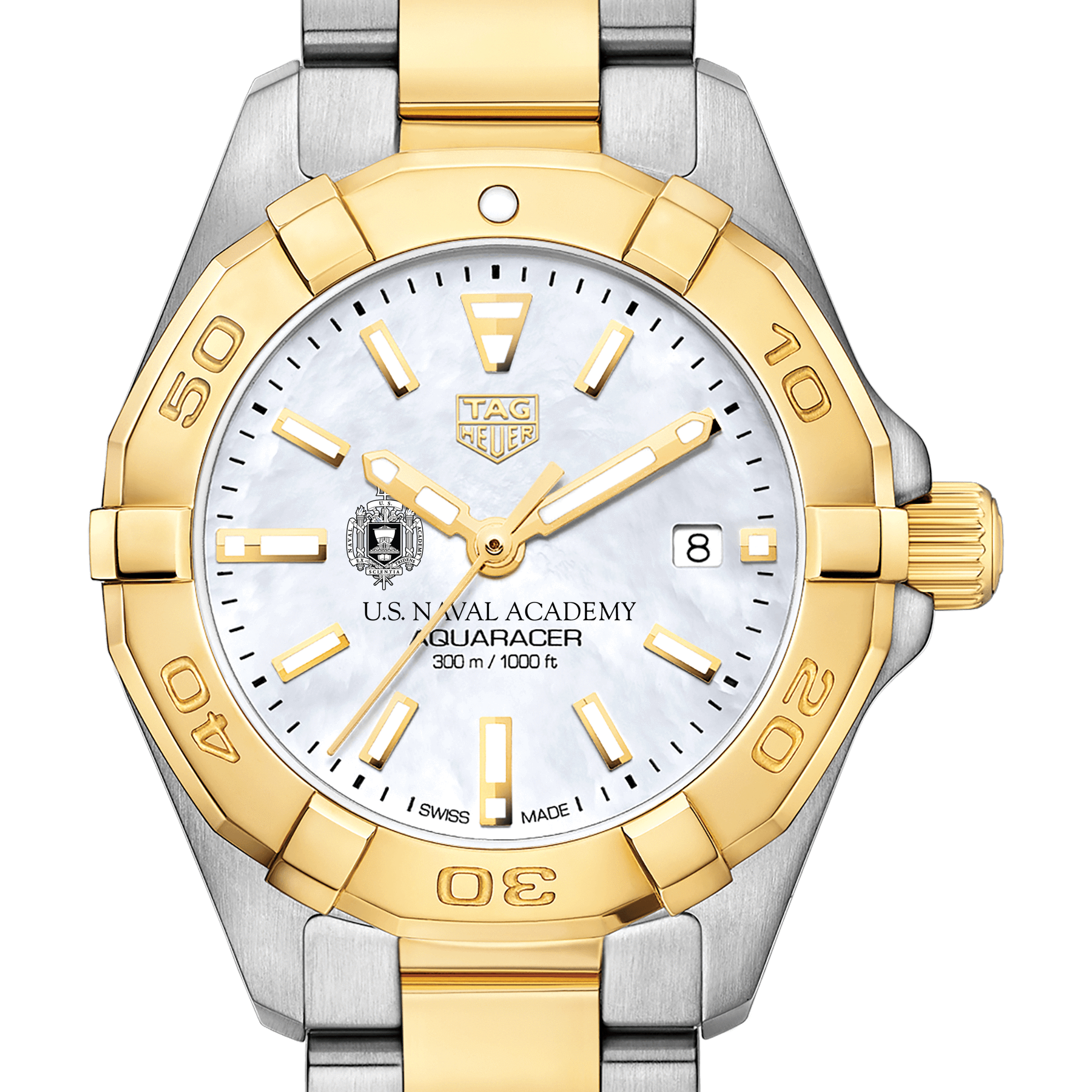 US Naval Academy TAG Heuer Two-Tone Aquaracer for Women
