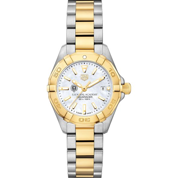 US Naval Academy TAG Heuer Two-Tone Aquaracer for Women - Image 2