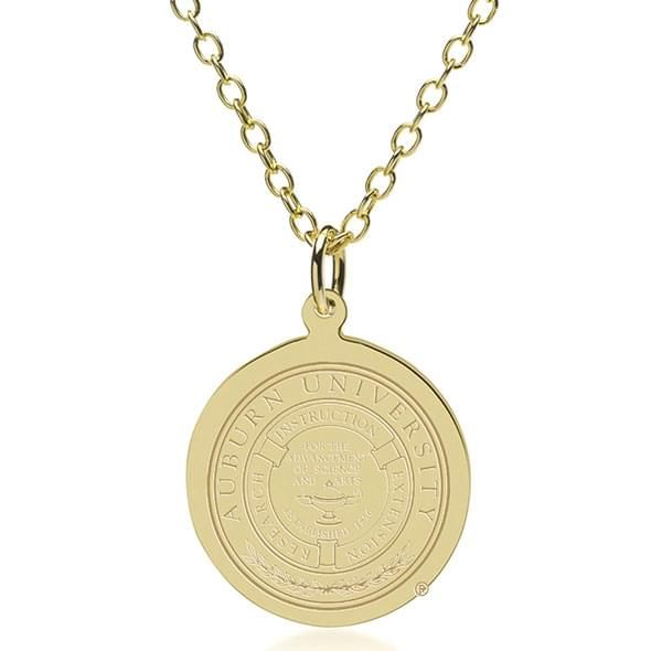 Auburn 18K Gold Pendant & Chain