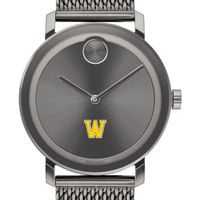 Williams College Men's Movado BOLD Gunmetal Grey with Mesh Bracelet