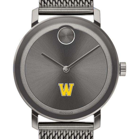 Williams College Men's Movado BOLD Gunmetal Grey with Mesh Bracelet