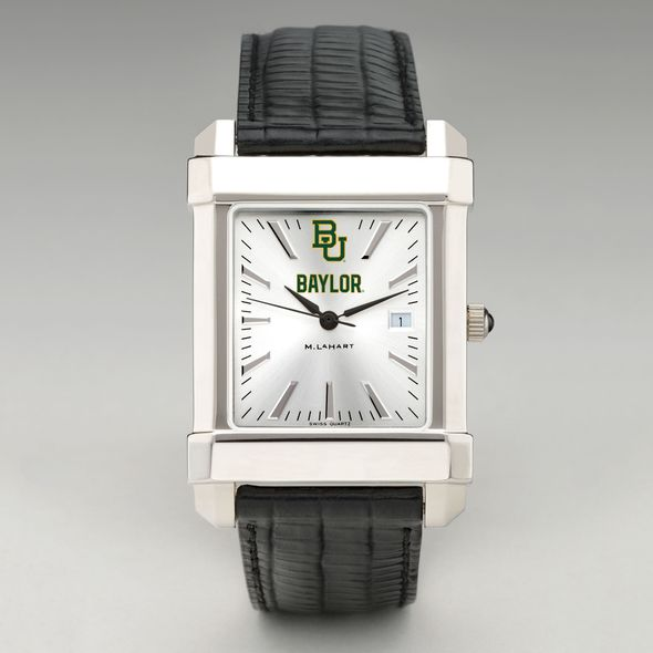 Baylor Men's Collegiate Watch with Leather Strap - Image 2