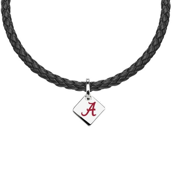 Alabama Leather Necklace with Sterling Silver Tag