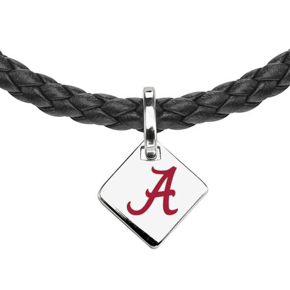 Alabama Leather Necklace with Sterling Silver Tag - Image 2