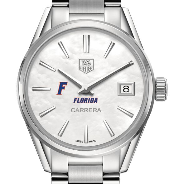 University of Florida Women's TAG Heuer Steel Carrera with MOP Dial - Image 1